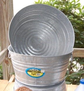 King Metal - Galvanized Round Tub