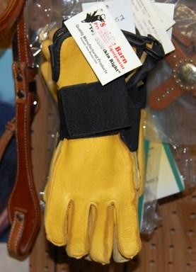 Saddlebarn Youth Bullriding Glove - Left hand Gold