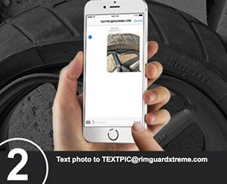 Step 2: Text photo to TEXTPIC@rimguardxtreme.com