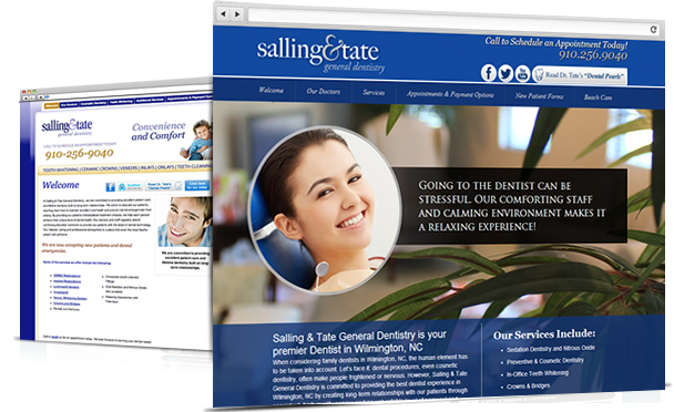 Salling and Tate - Dental Web Design