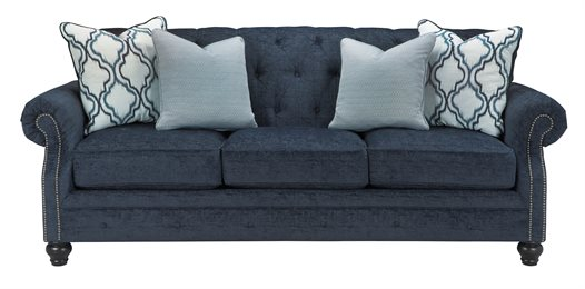 LaVernia Upholstered Sofa Navy