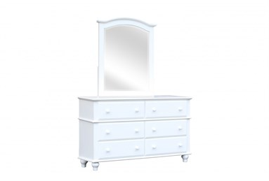 Abacoa Six Drawer Dresser White