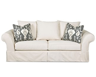 Charleston Upholstered Slip Cover Queen Sofa Sleeper