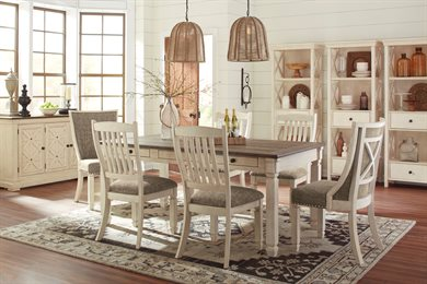 Bolanburg 7PC Rectangular Dining Room Collection Two Tone