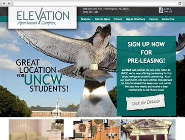 Apartment Website Design | Elevation NC | BlueTone Media