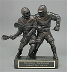 LSS-14 - Two Male Lacrosse Player Sculpture