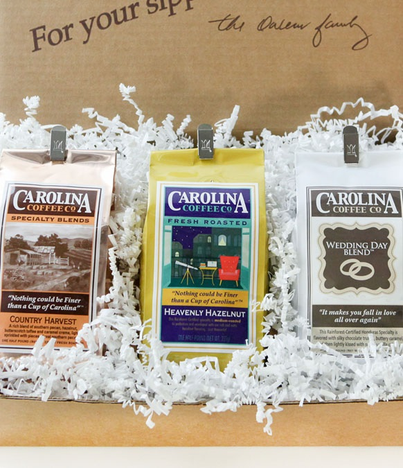 Carolina Coffee Flavored Trio Gift Box