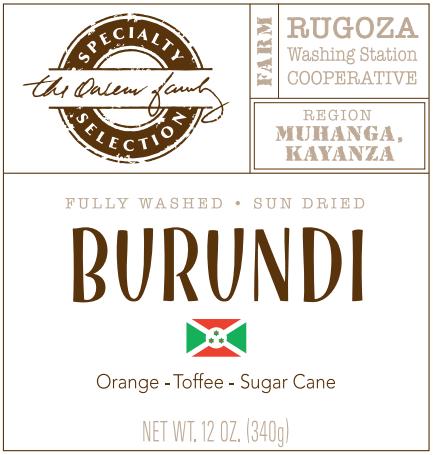 Carolina Coffee Burundi Rugoza