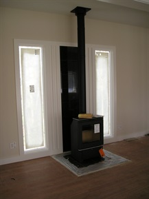 european woodstove installation