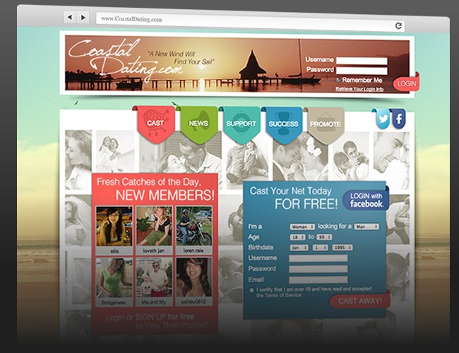 Website Design- Coastal Dating