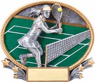 MX - Female Tennis Burst-through Figure