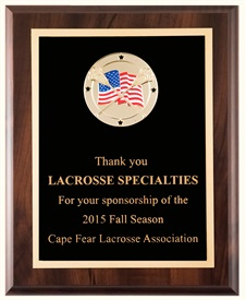 FMD810 Flag Medallion Lacrosse Plaque