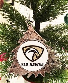 OR-C Custom Logo Christmas Tree Lacrosse Ornament