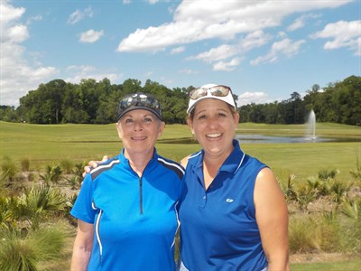 Match Play Flight 5 Winners - Sonja Southern and Irene Miller