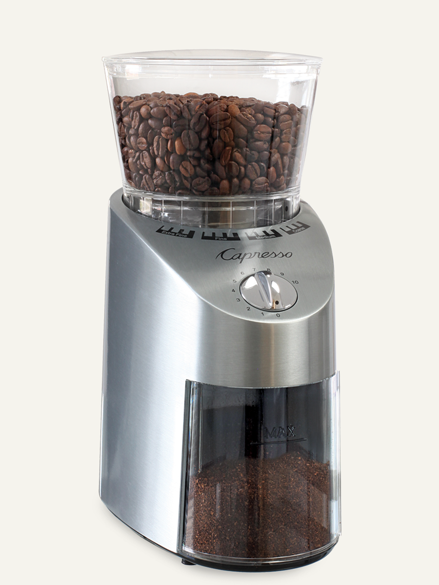 Carolina Coffee Capresso Infinity Plus Conical Burr Grinder - Zinc Die-Cast Housing
