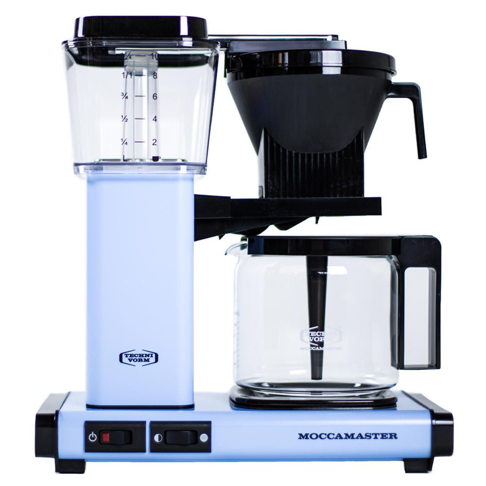 Carolina Coffee Technivorm Moccamaster KGB Automatic Drip Stop Coffee Maker With Glass Carafe - Sky Blue