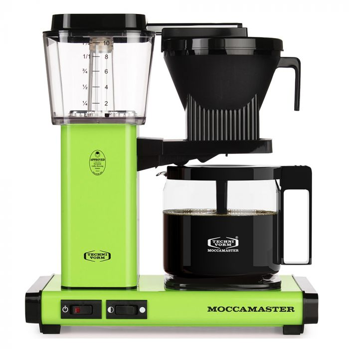 Carolina Coffee Technivorm Moccamaster KGB Automatic Drip Stop Coffee Maker With Glass Carafe - Fresh Green