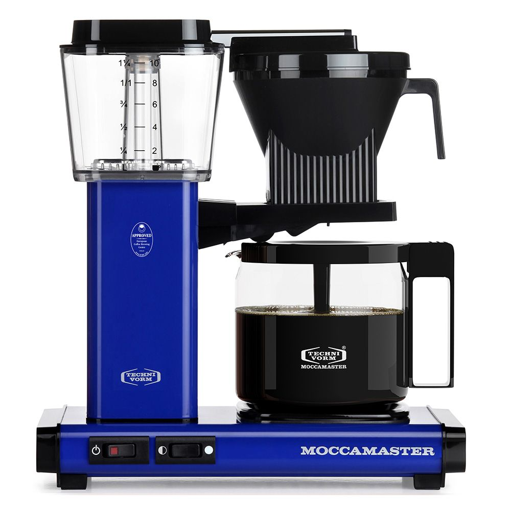 Carolina Coffee Technivorm Moccamaster KBG Automatic Drip Stop Coffee Maker With Glass Carafe -  Royal Blue